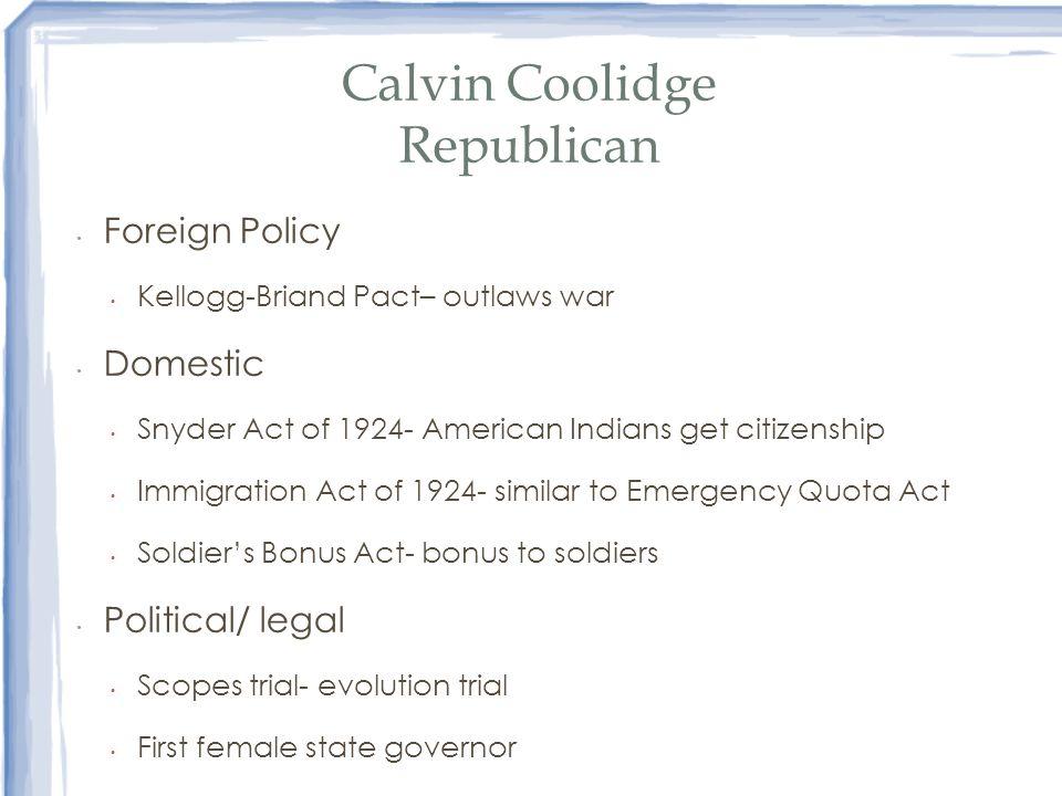 Calvin Coolidge Republican