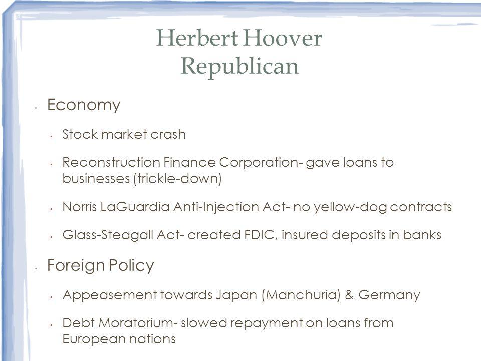 Herbert Hoover Republican