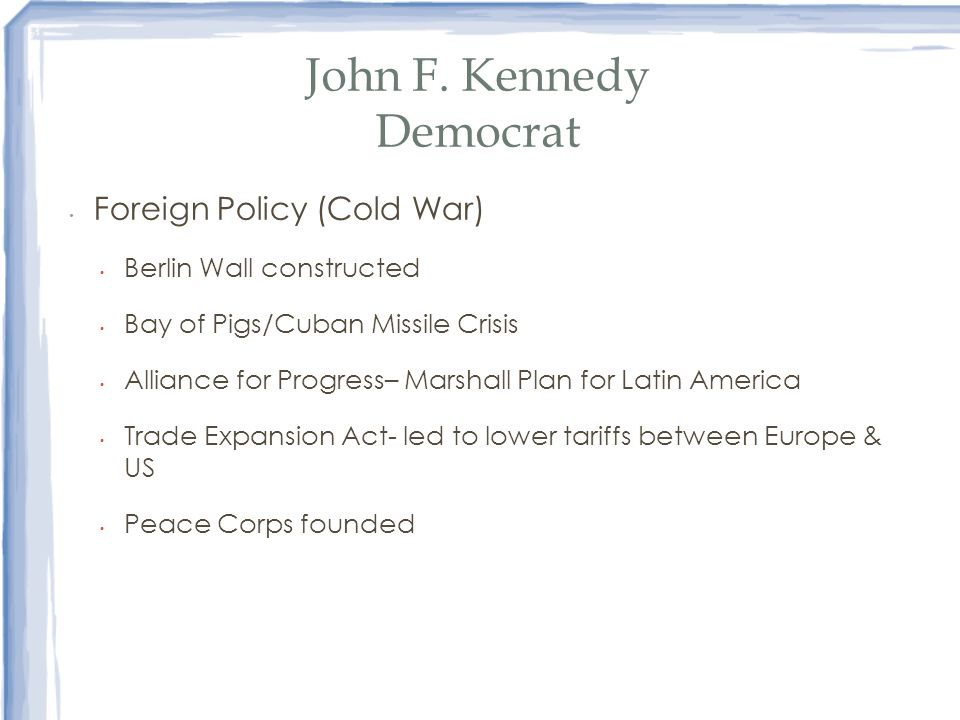 John F. Kennedy Democrat