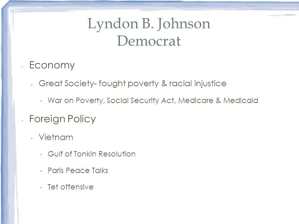 Lyndon B. Johnson Democrat