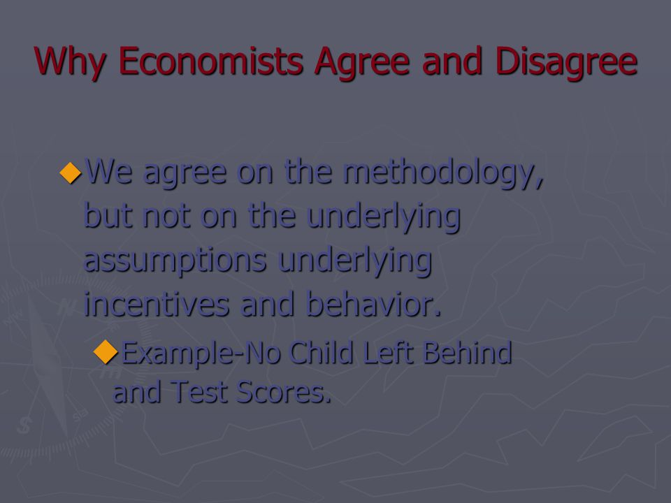 Why Economists Agree and Disagree