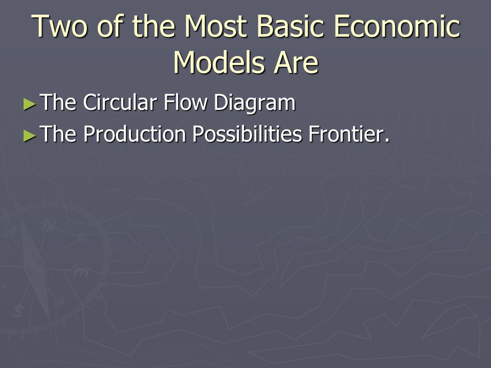Two of the Most Basic Economic Models Are