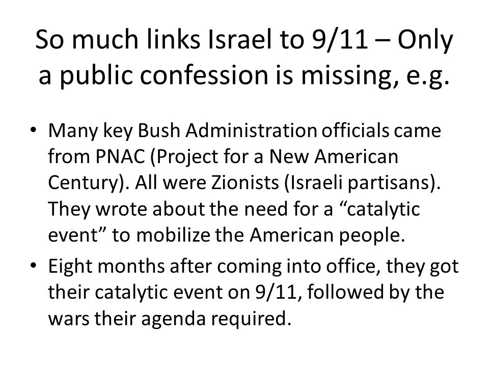 So much links Israel to 9/11 – Only a public confession is missing, e