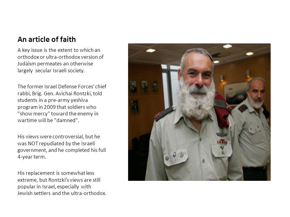 An article of faith