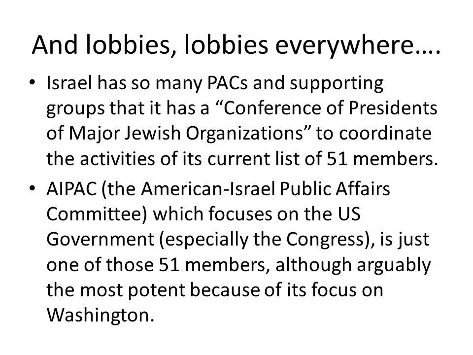 And lobbies, lobbies everywhere….