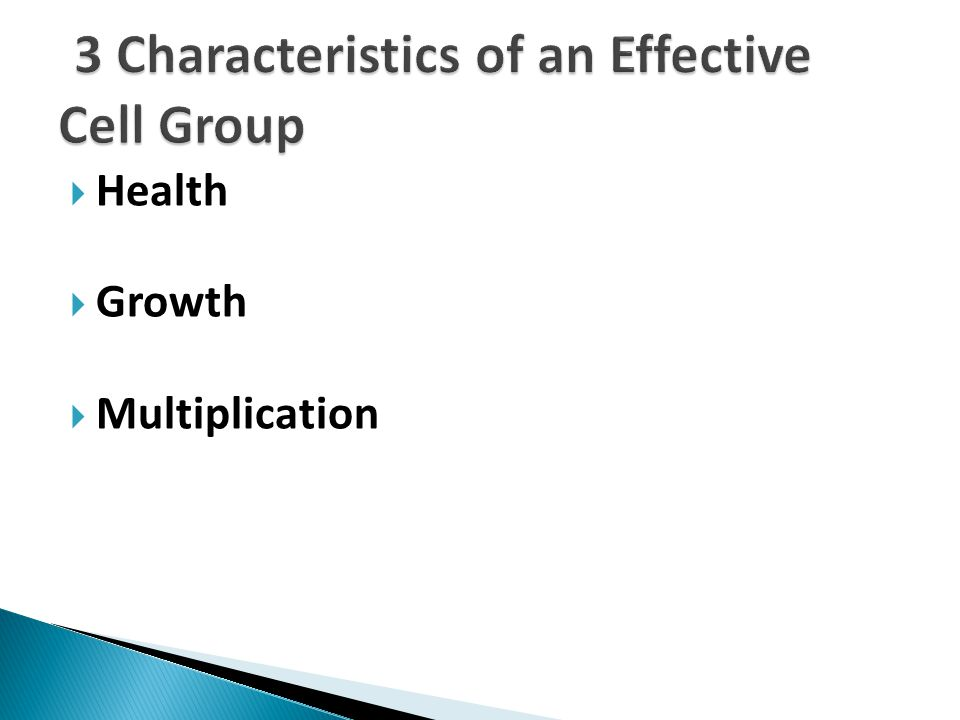3 Characteristics of an Effective Cell Group