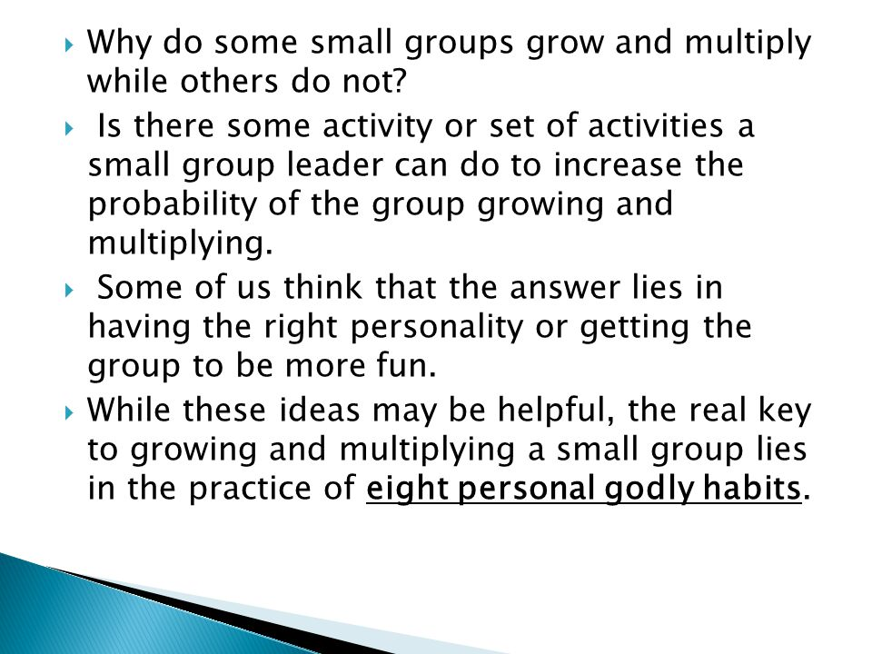 Why do some small groups grow and multiply while others do not