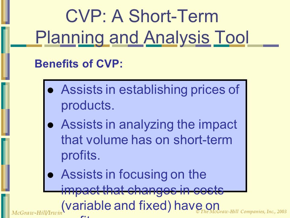 CVP: A Short-Term Planning and Analysis Tool