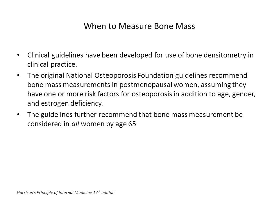 When to Measure Bone Mass