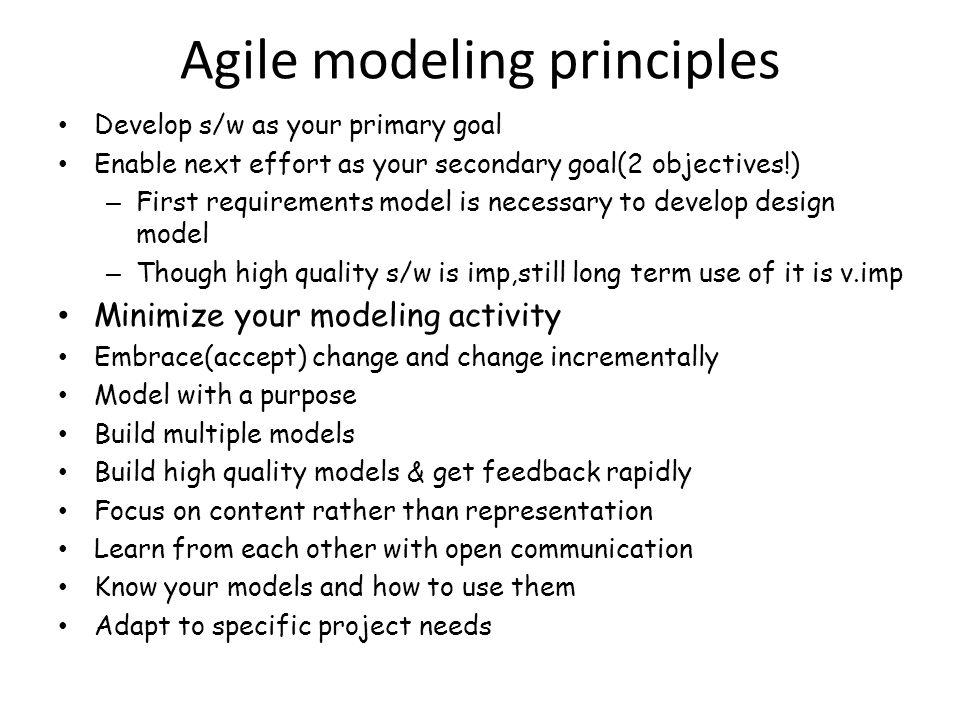 Agile modeling principles
