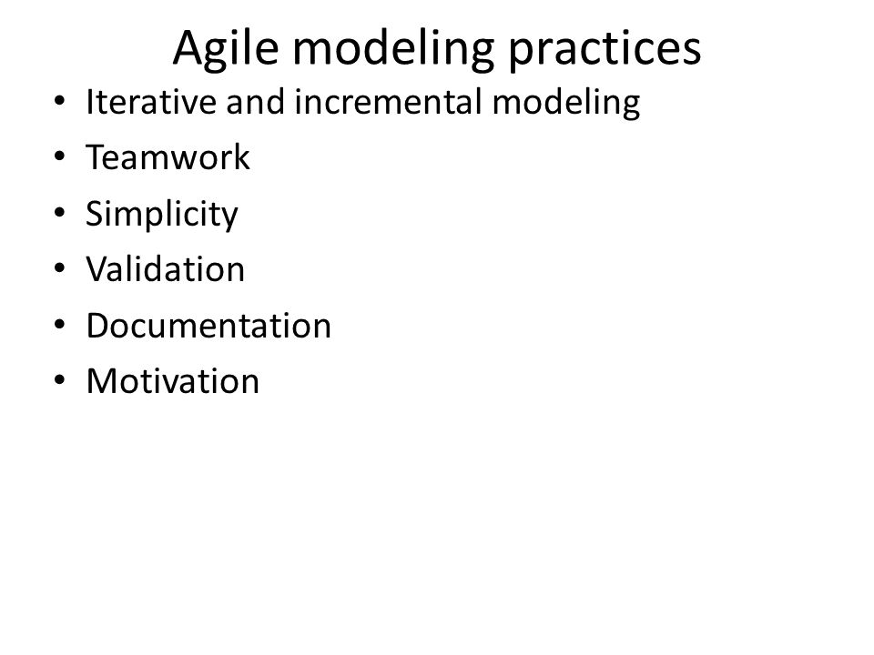Agile modeling practices