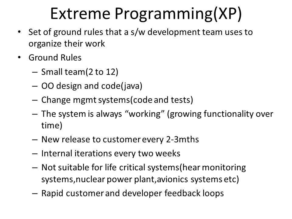 Extreme Programming(XP)