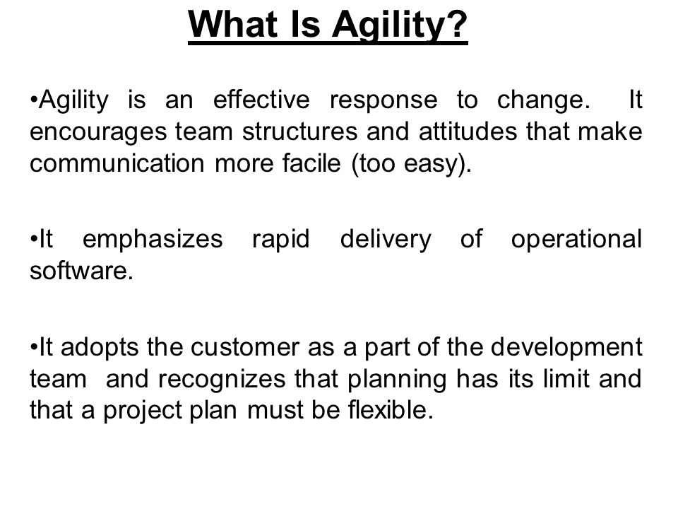 What Is Agility