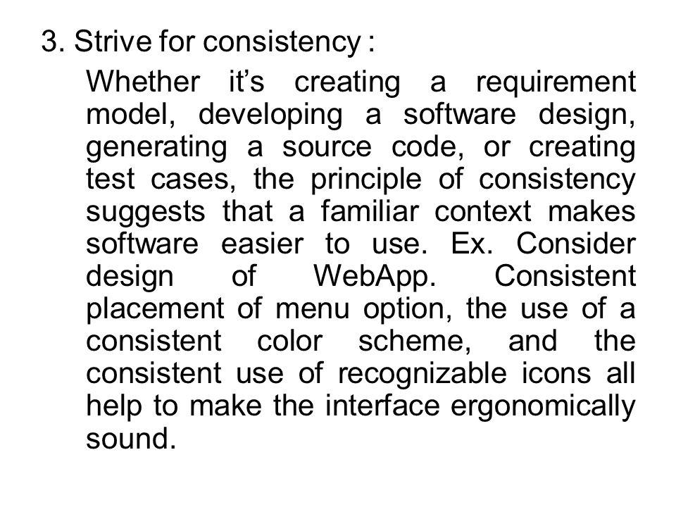 3. Strive for consistency :