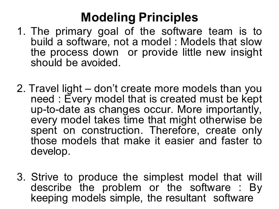 Modeling Principles