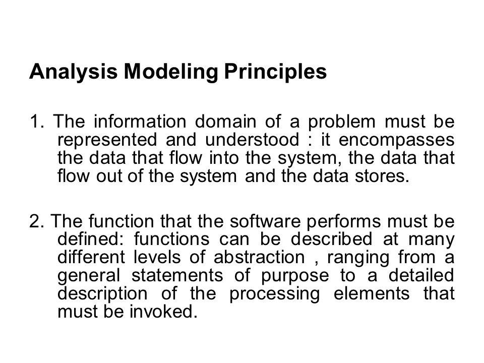 Analysis Modeling Principles