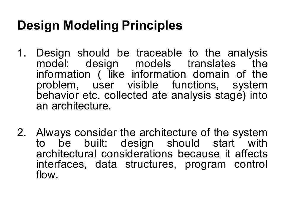 Design Modeling Principles