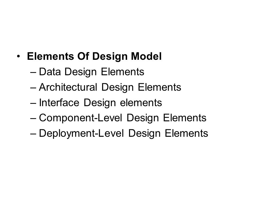 Elements Of Design Model