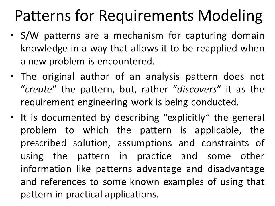 Patterns for Requirements Modeling