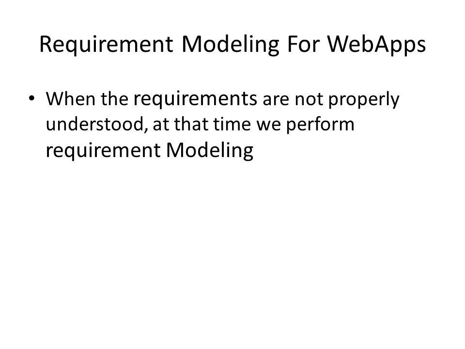 Requirement Modeling For WebApps