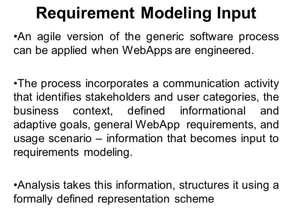 Requirement Modeling Input