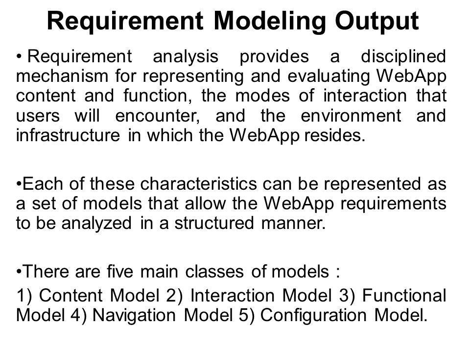 Requirement Modeling Output