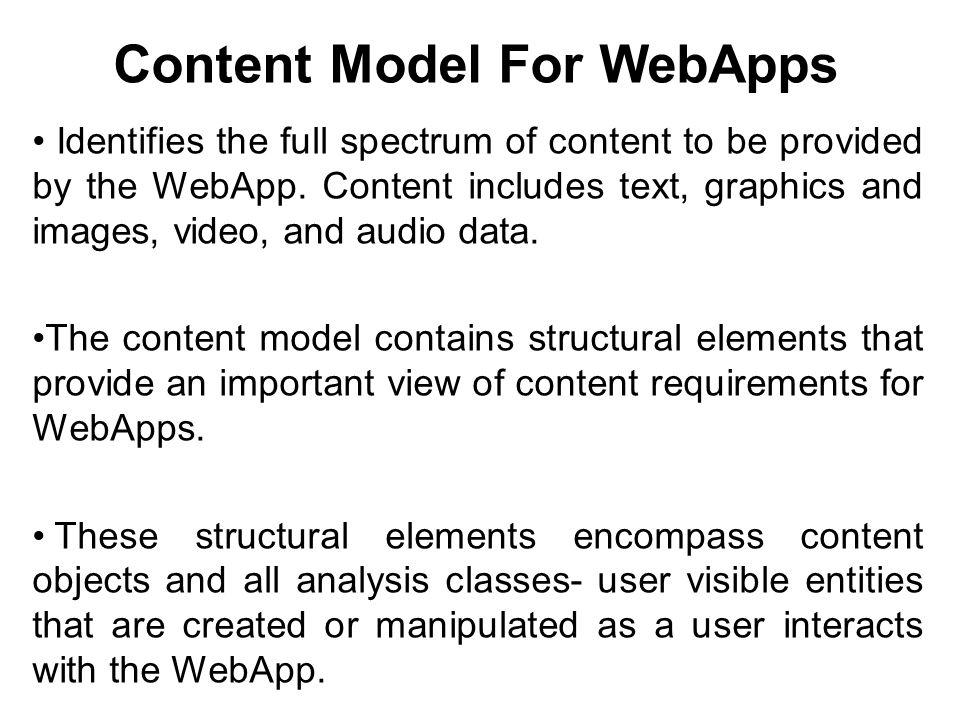 Content Model For WebApps