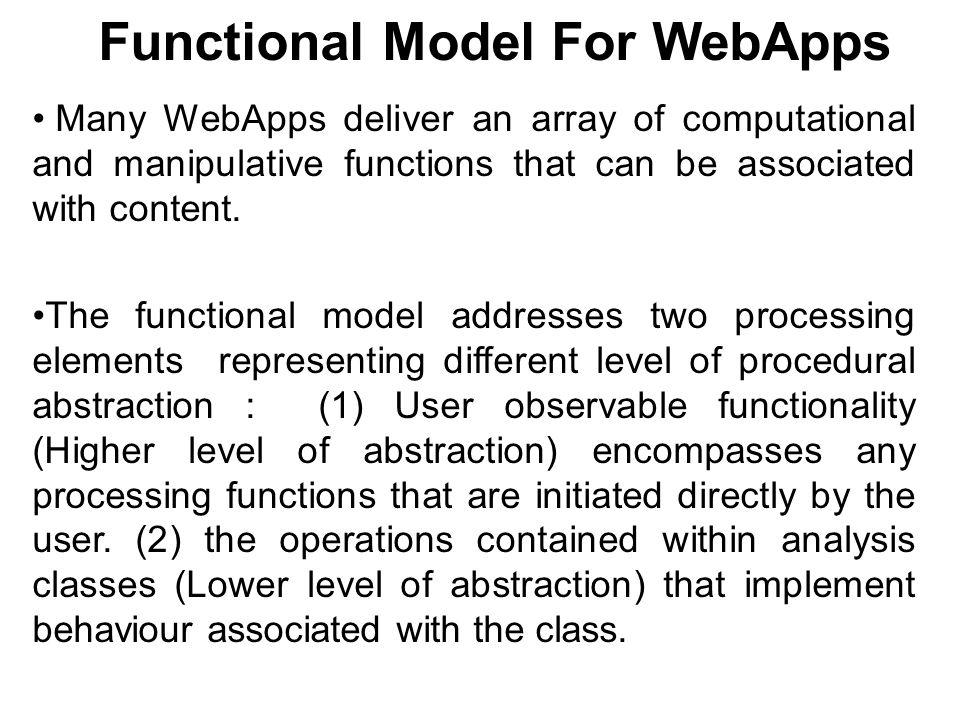 Functional Model For WebApps