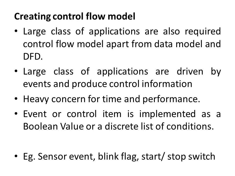 Creating control flow model