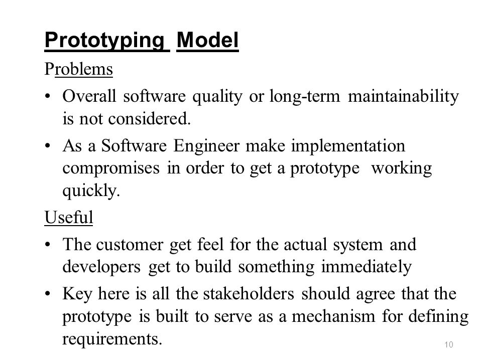 Prototyping Model Problems