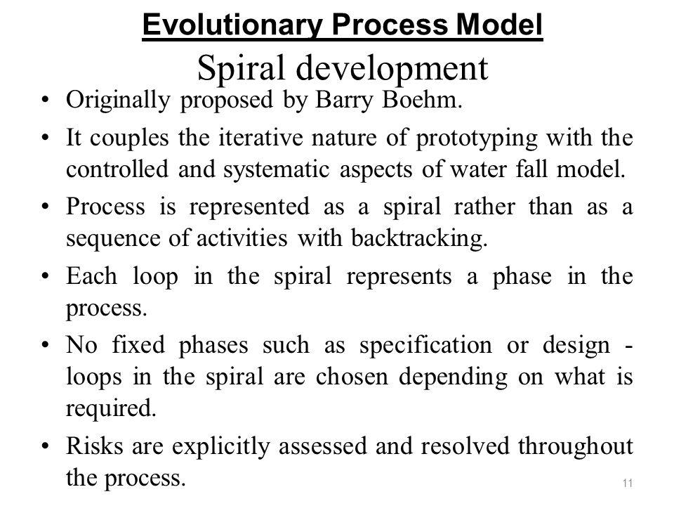 Evolutionary Process Model Spiral development