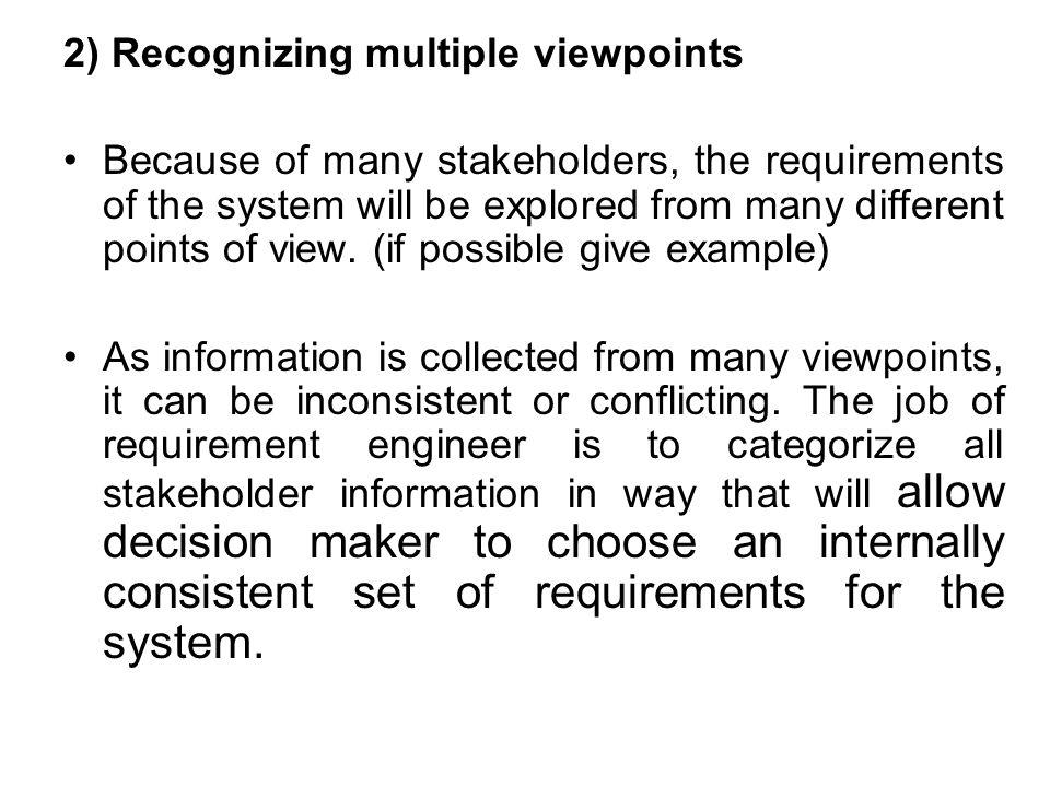 2) Recognizing multiple viewpoints