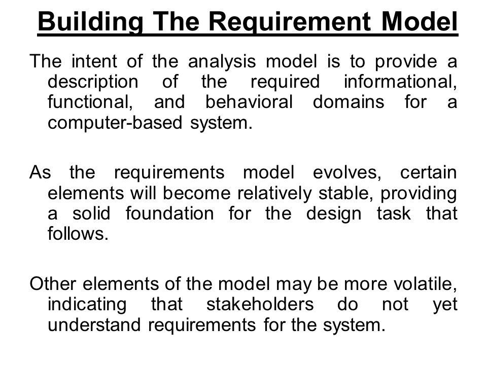 Building The Requirement Model
