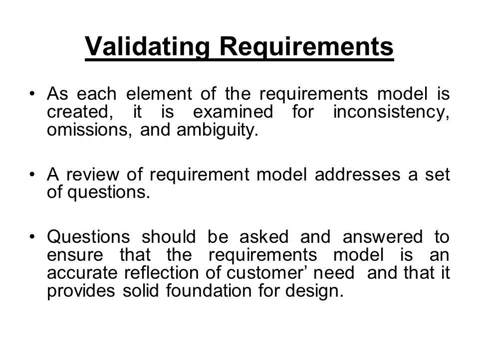 Validating Requirements