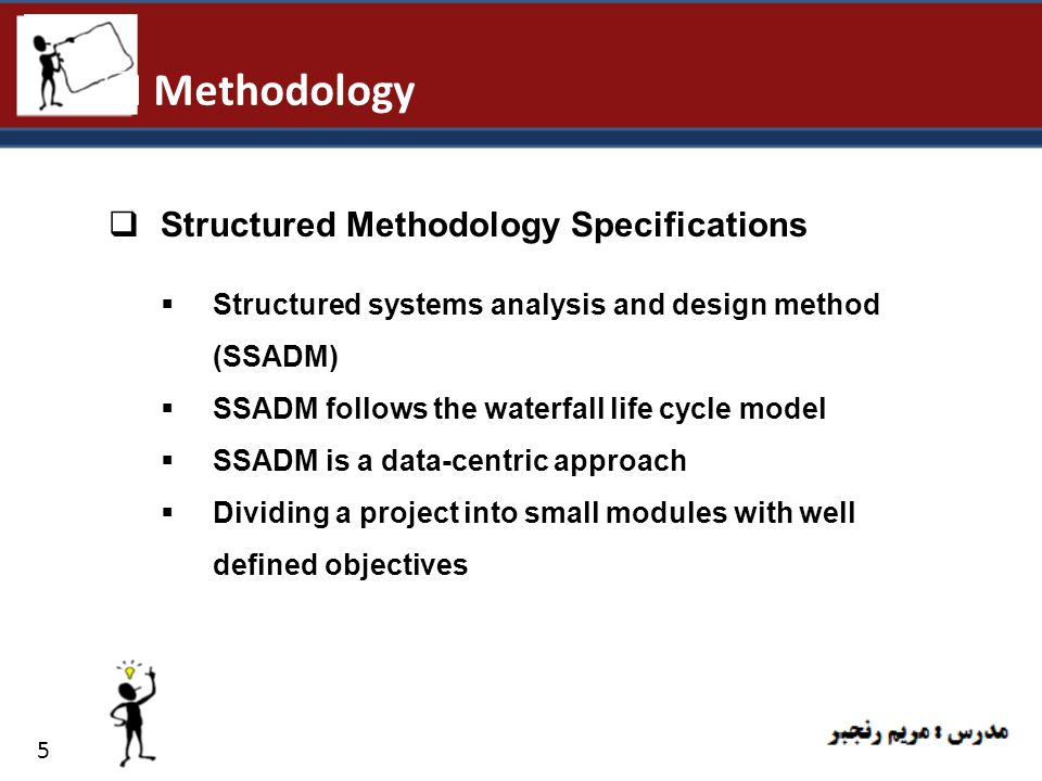 Methodology Structured Methodology Specifications