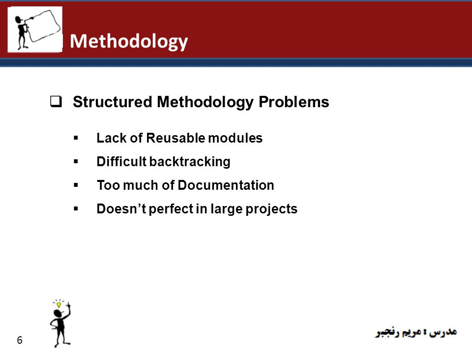 Methodology Structured Methodology Problems Lack of Reusable modules