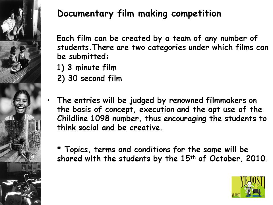 Documentary film making competition
