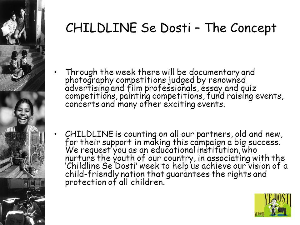 CHILDLINE Se Dosti – The Concept