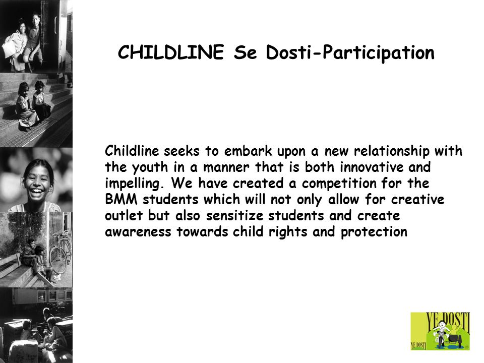 CHILDLINE Se Dosti-Participation