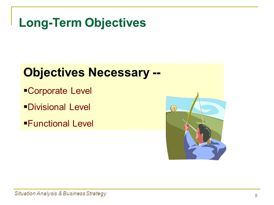 Objectives Necessary --