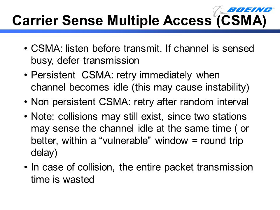 Carrier Sense Multiple Access (CSMA)
