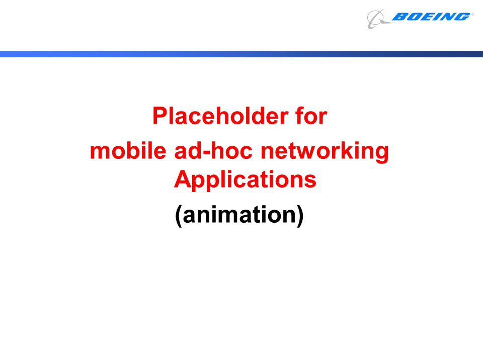 mobile ad-hoc networking Applications