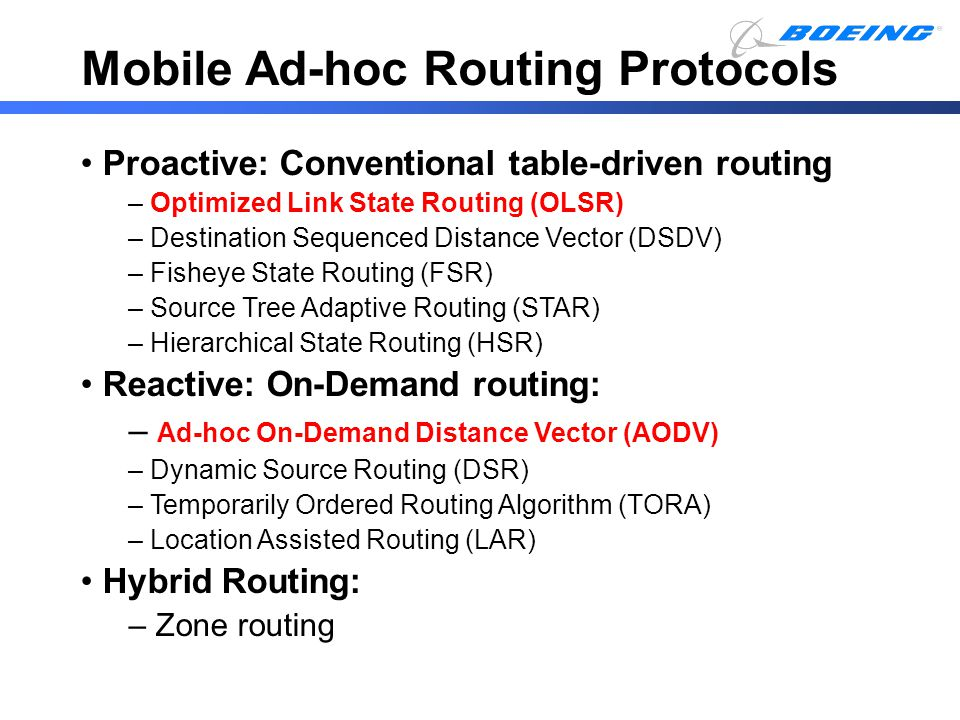 Mobile Ad-hoc Routing Protocols