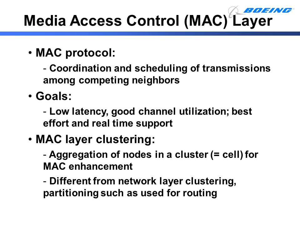Media Access Control (MAC) Layer