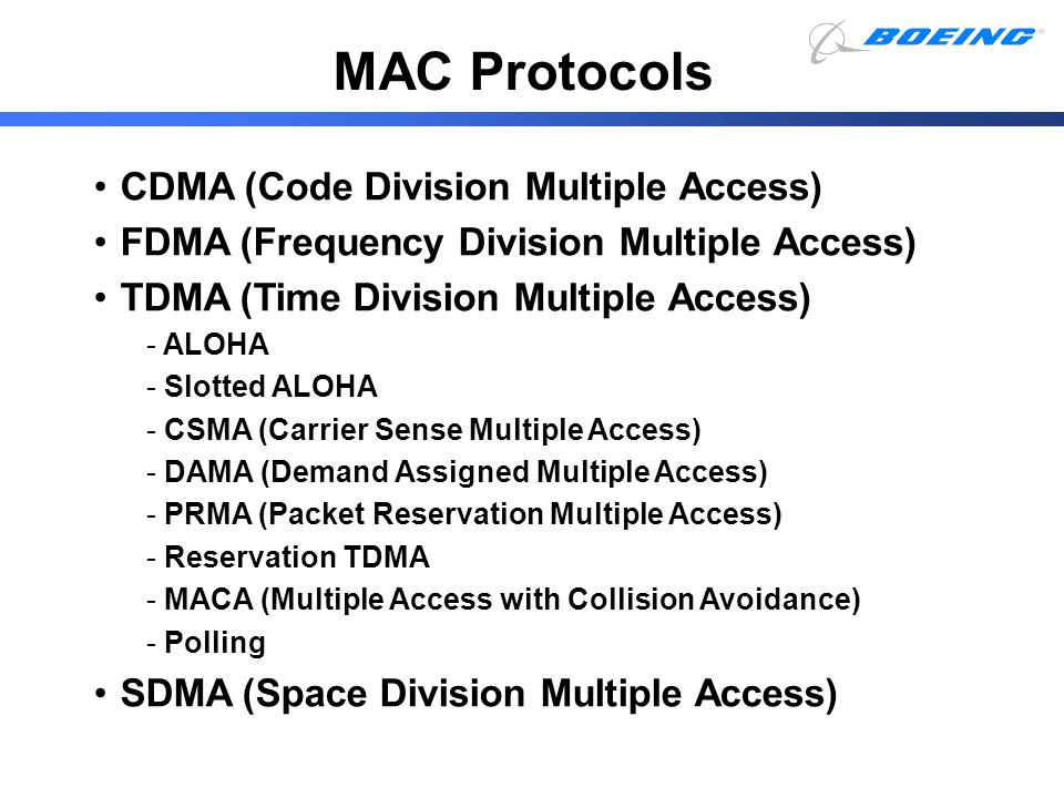 MAC Protocols CDMA (Code Division Multiple Access)