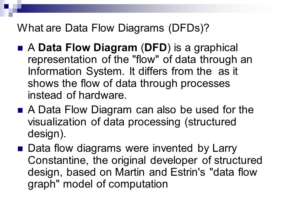 What are Data Flow Diagrams (DFDs)