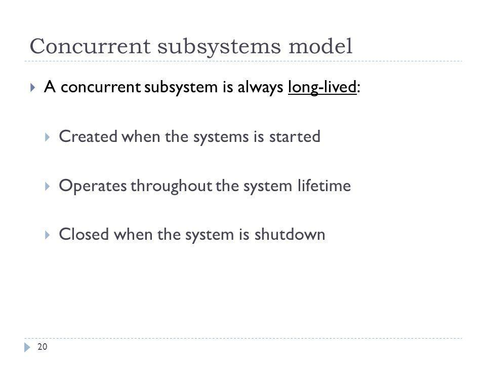 Concurrent subsystems model