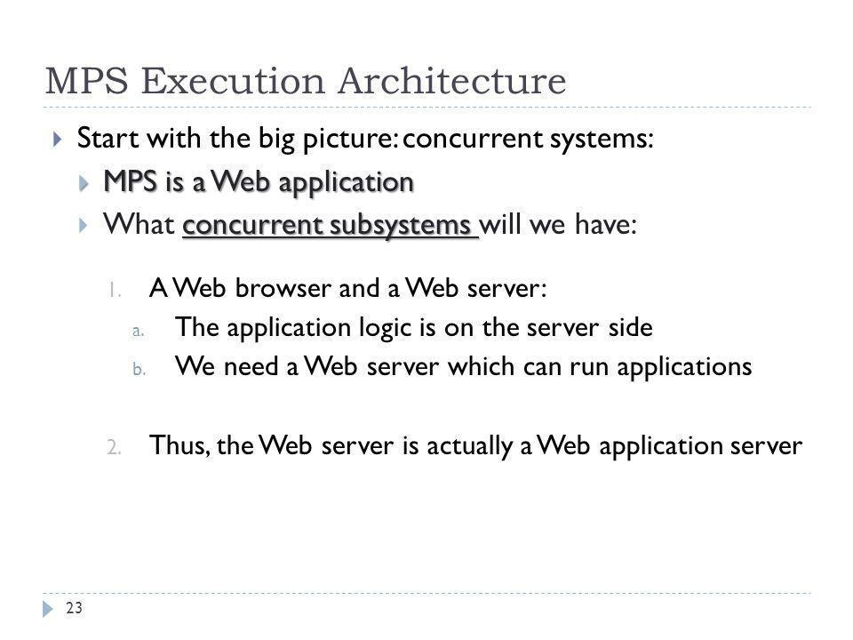 MPS Execution Architecture