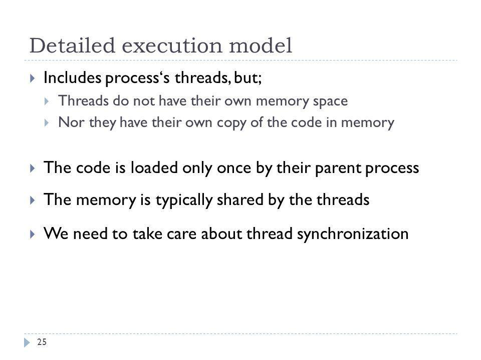 Detailed execution model