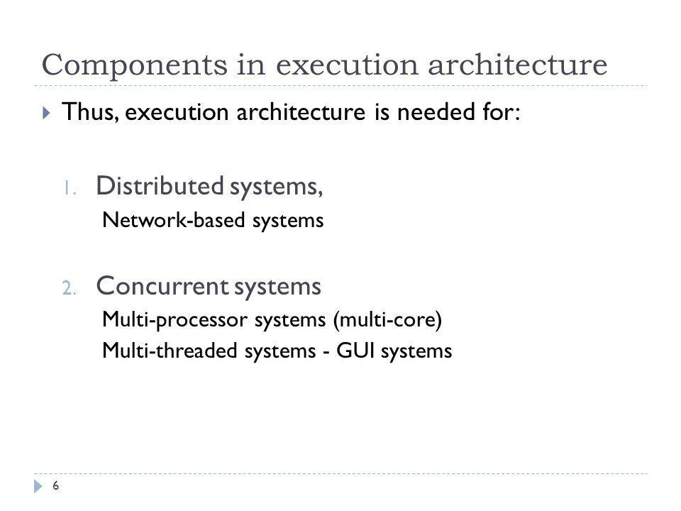 Components in execution architecture